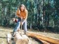 Arwen debarking the trees