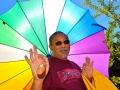 Rinpoche and umbrella