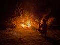Monday night's bonfire