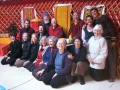 Jan 2011: Vajrayogini group inside yurt