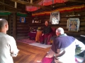 Tarchin teaching in Gompa