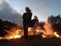 Jami at bonfire