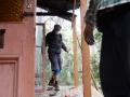 New deck construction at the Villa Hut