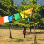 Retreatant on grounds near the Gompa